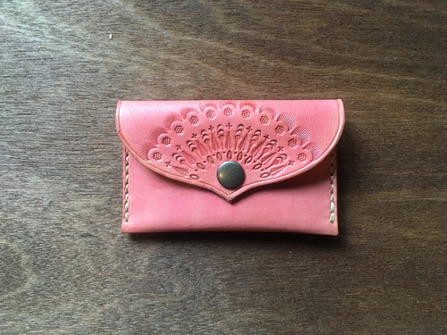 flat coin case S #pink