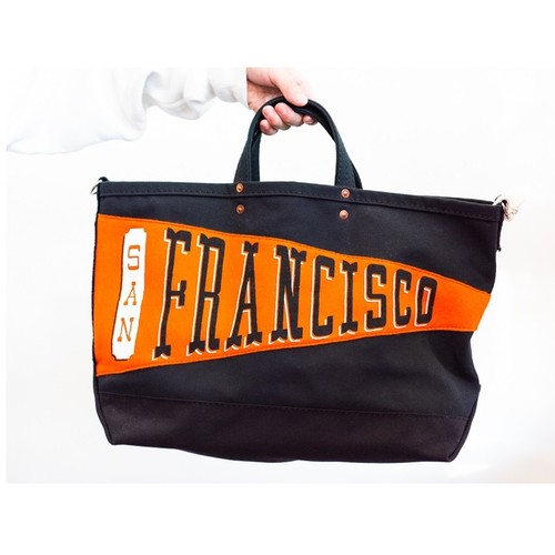 【Oxford Pennant】P.T Works & Design Tote (San Francisco / BLACK)