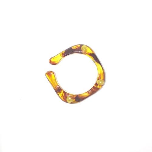 sAn [sanrmk]  Pearl Ear Cuff Ring 14 べっ甲
