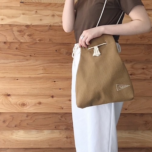 TSGD KINCHAKU BAG/ BROWN