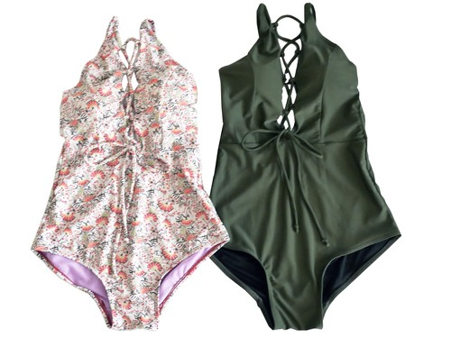 Bohemian Lace-Up OP swimmer ②