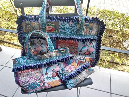 新商品✨スペイン産ゴブラン織りオリジナルフリルバックセット