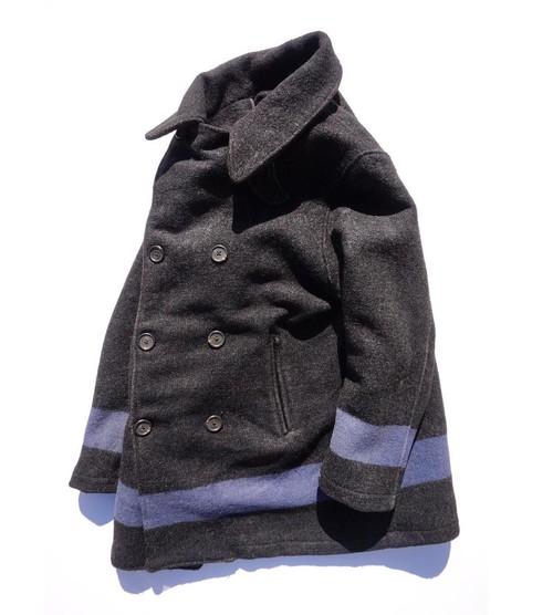 1980's USA製 [Ralph Lauren] ブルーライン Pコート チャコールグレー 実寸(M位) ラルフローレン