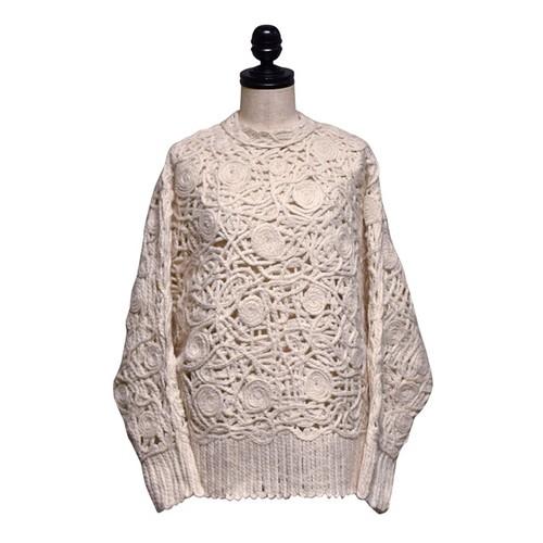 NATALIE KOLYOZYAN / Embroidered Knitwear / Ecru