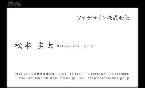 ビジネス両面名刺・シンプル 020 100枚