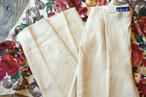 90's Ralph Lauren linen tapered Pants