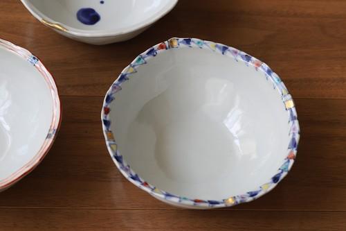 松尾貞一郎 変形取り鉢 020820-K14 貞土窯(有田焼)直径約14cmのお鍋の取り鉢にちょうど良いサイズのお鉢