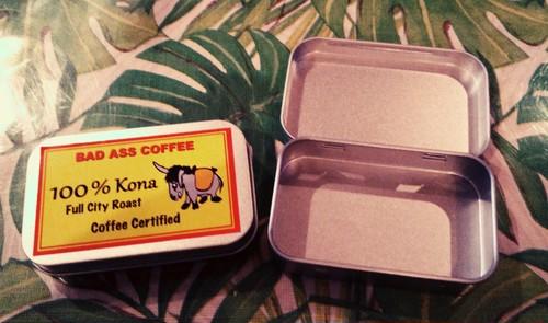 Kona100% ミントサイズ缶~限定品~ ハワイアンコーヒー・フレーバーコーヒー・コナコーヒー・バッドアスコーヒー・ミント缶