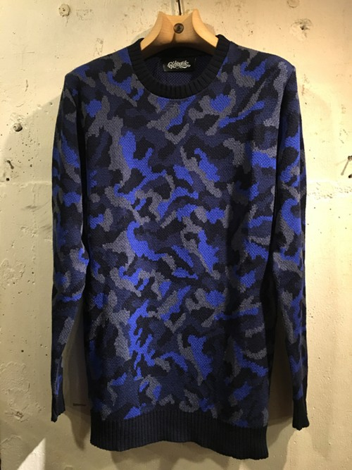 RAKUGAKI CAMO & SECRET STAR SWEATER BLUE