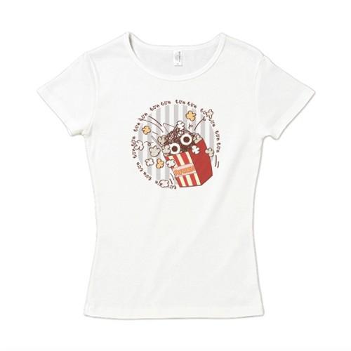 CT92 もじゃもじゃ★ぱっふんのポップコーン / 6.2オンス CVC フライス Tシャツ