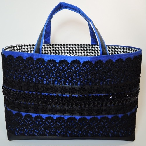 トートL  silk  royal blue