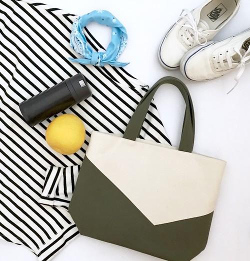 bi-color bag ▶︎▶︎ ivory × olive