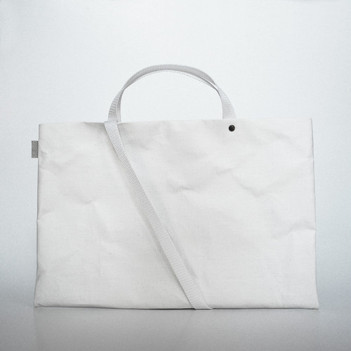 【N/no × E/zel.】SOME WAY LIGHT LESSON BAG_P6(B4)_PP/WHITE