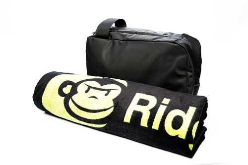RidgeMonkey LX Bath Towel and Weatherproof Shower Caddy