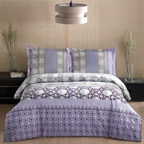 トルコ製 ダブル ベッドカバー 4点セット ELVAN ブルー
