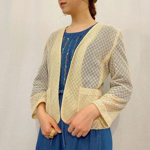 (LOOK) mesh l/s jacket