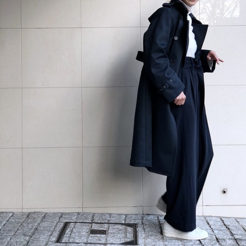 Bonding Trench Coat/NAVY