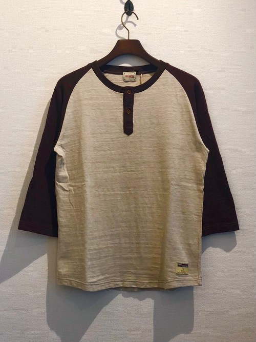HENLY NECK 7S TEE (BROWN×IVORY) / LOST CONTROL