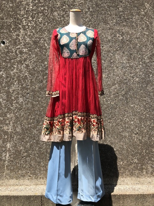 sheer ethnic dress