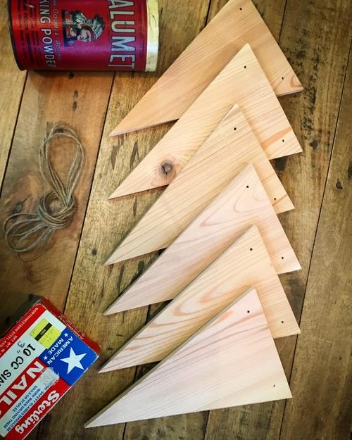 木製ガーランドキッド