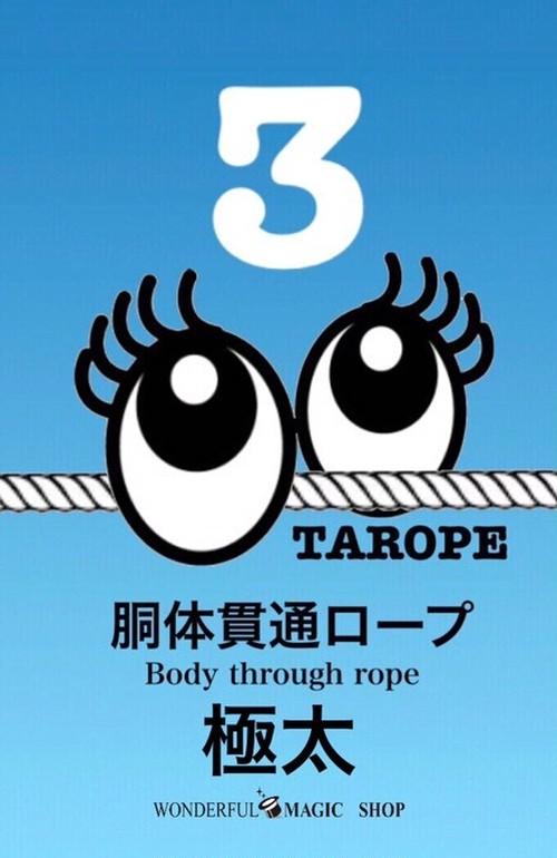 極太!!!胴体貫通ロープ TAROPE3 Extra thick!!! Body through rope