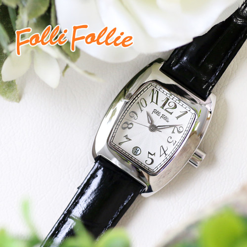 フォリフォリ FOLLI FOLLIE クオーツ レディース 腕時計 S922-SVBK シルバー/ブラック シルバー