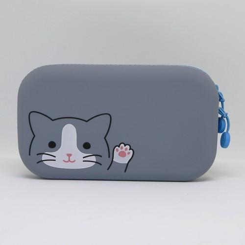 猫ポーチ(ファスナーポーチ)ハチワレ猫