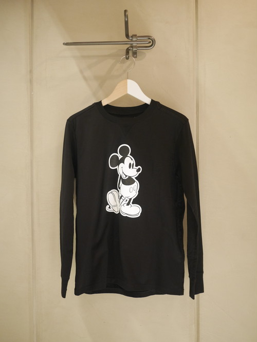 TAKAHIROMIYASHITATheSoloist. / Mickey Mouse crew neck l/s tee. (monotone color Mickey Mouse / black)
