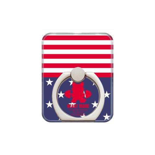 【BEASTMODE】スマホリング 星条旗