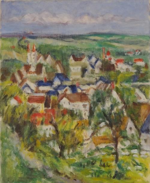 セザンヌの風景再構成 油絵 手描き
