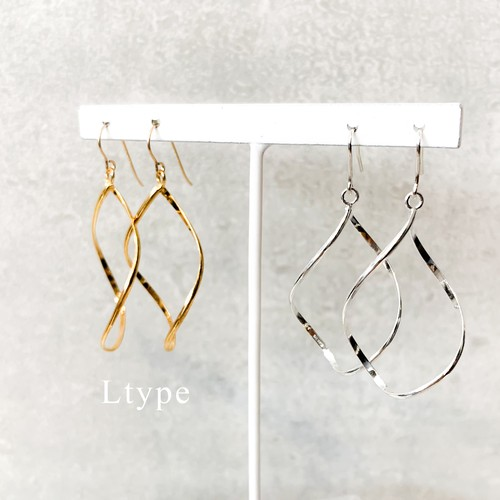 swaying leaves ピアス/イヤリング(silver・gold)