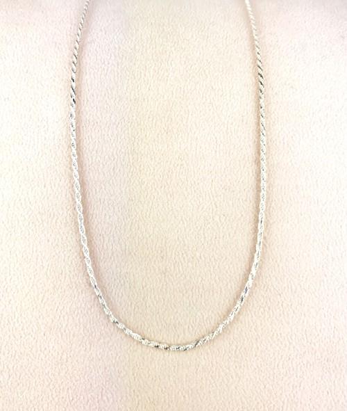 Silver925製★ロープチェーン ネックレス★線径2.3mm 長さ45cm★純銀仕上げ
