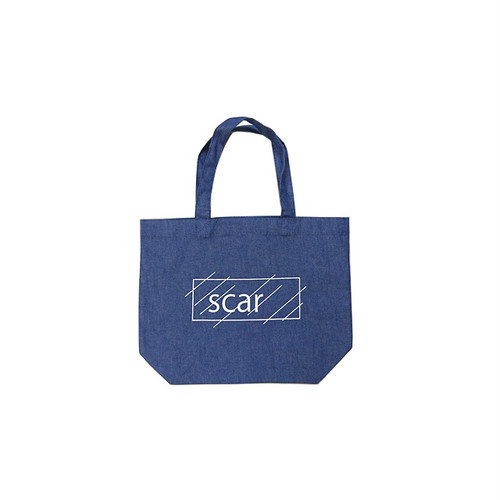 scar /////// OG LOGO COTTON TWILL TOTE BAG / Small (Light Blue Denim)