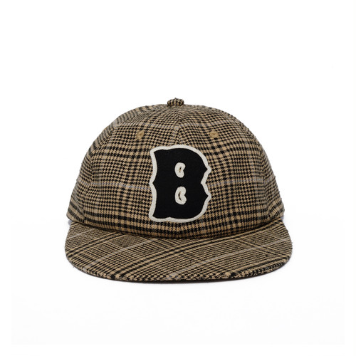 B Logo Plaid Cap
