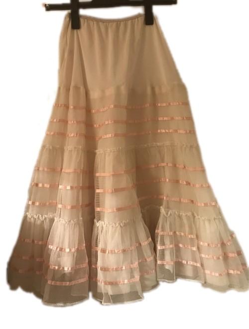 ヴィンテージ 2段チュール ティアードスカート