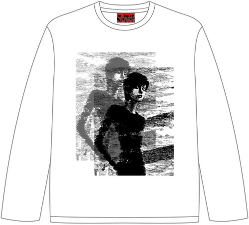 四つ辻の美少年 ロングスリーブTシャツ ホワイト