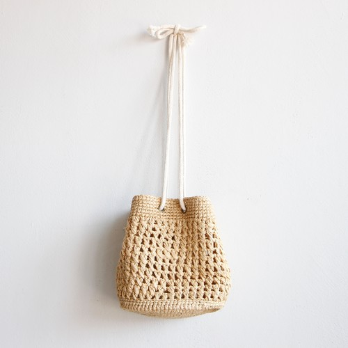 《L.L.S》AARON BAG RAFFIA / natural