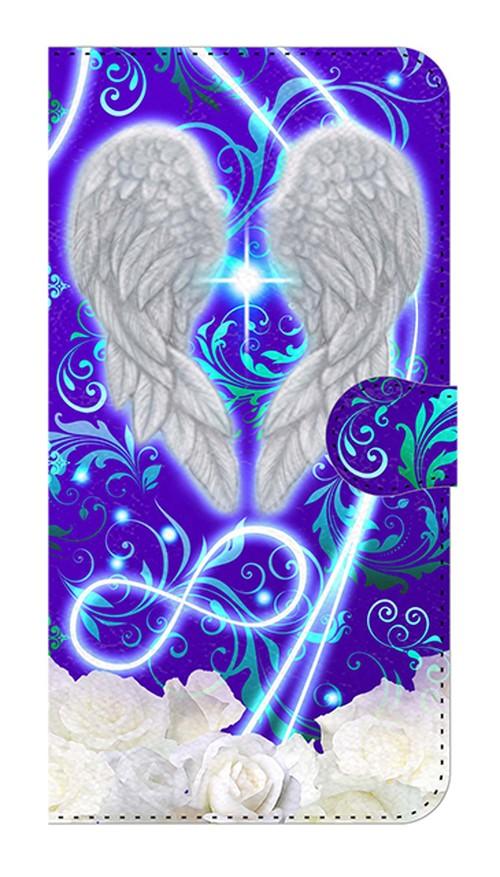 【鏡付き Lサイズ】Angel Wings エンジェル・ウィングズ 手帳型スマホケース