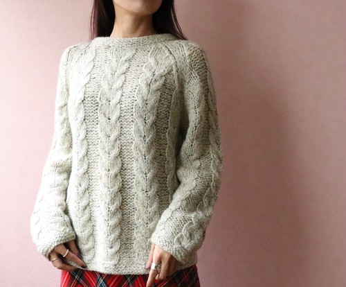 70's cable knit