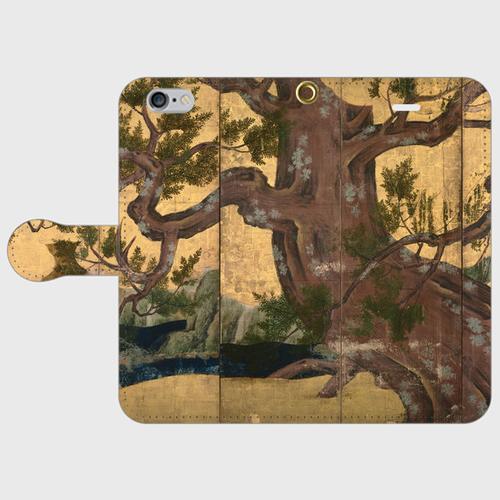 SOUVENI-ART 狩野永徳「檜図屏風」 手帳型スマホケース