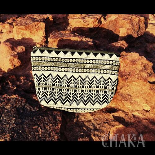 TRIBALOGY/パレスチナ刺繍のシックなポーチ