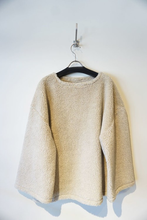 BOA FLEECE PULLOVER [ WHITE ]