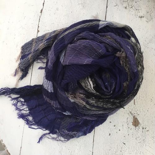 【tamaki niime】roots shawl BIG cotton100% H〜K 玉木新雌