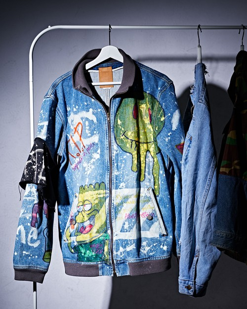 Paint Denim Blouson