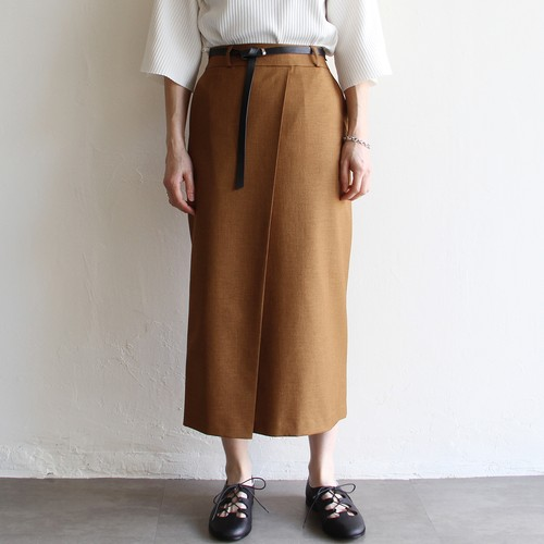 DONEEYU【 womens 】belted tight skirt