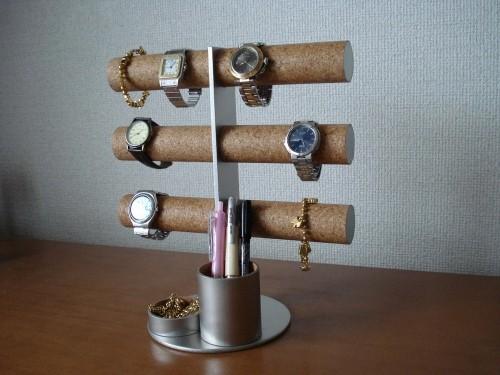 12本掛け腕時計タワースタンド トレイ,ペン入れトレイバージョン No.100804