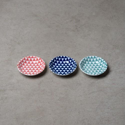 3色豆皿セット】山格子カラー豆皿