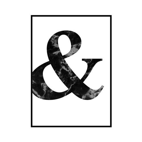 """""""&"""" 黒大理石 - Black marble - ALPHAシリーズ [SD-000501] A2サイズ フレームセット"""