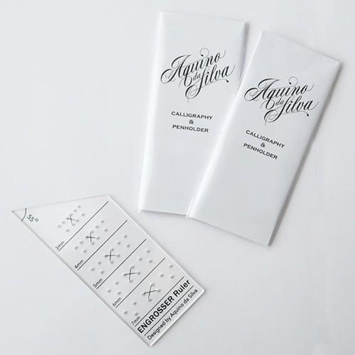 Calligraphy Ruler - Engrosser's Script/カリグラフィー ルーラー