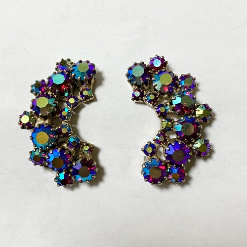 Vintage Crescent Moon Shaped Bjoux Earrings ②